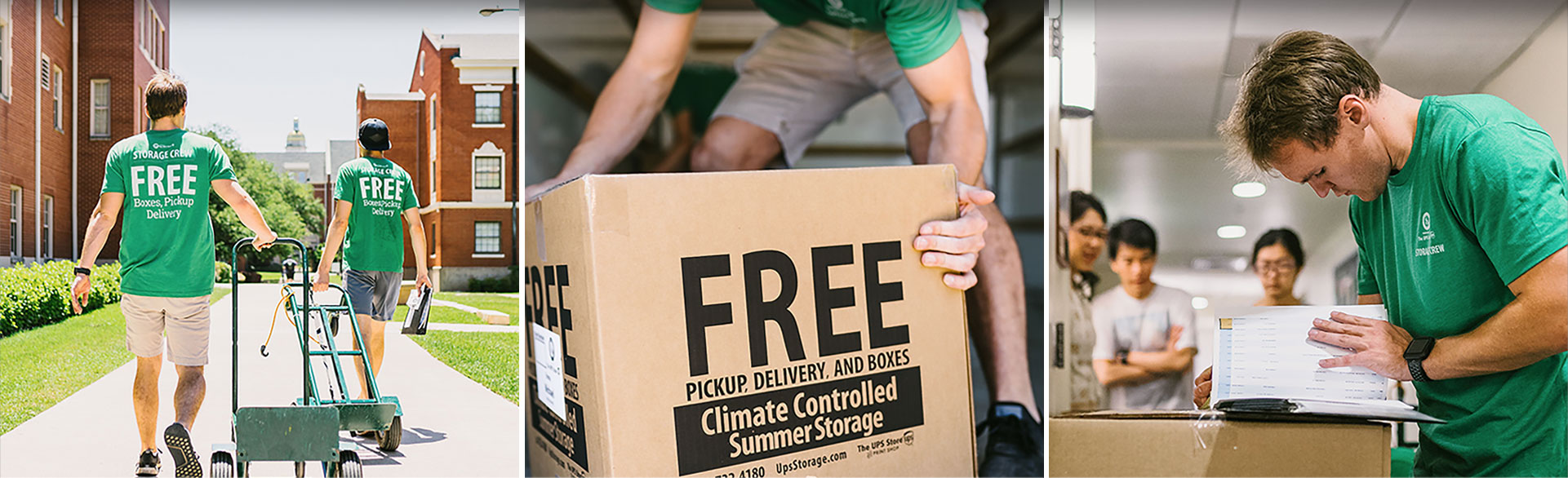 FREE BOXES. FREE PICKUP & DELIVERY. ALL INSURED